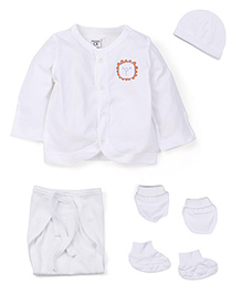M&M Full Sleeves Baby Basic Multi Pieces Set Pack Of 8 - White