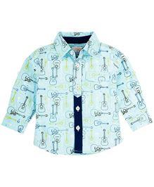 M&M Shirt With Print - Blue