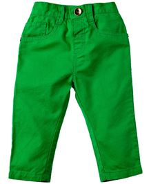 M&M Full Length Solid Color Trouser - Green