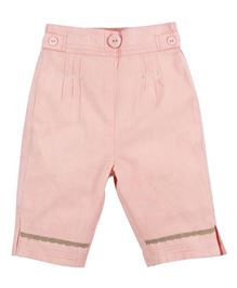 M&M Solid Color Trouser With Pleats - Pink