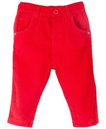 M&M Full Length Solid Colour Trouser - Red