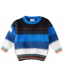M&M Infant Full Sleeve Sweater With Badge - Multi Color