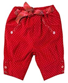 M&M Infant Trouser With Dotted Print - Red
