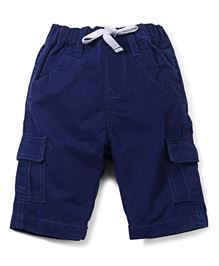 M&M Drawstring Shorts With Pockets - Navy Blue