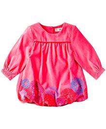 M&M Full Sleeves Printed Dress - Pink
