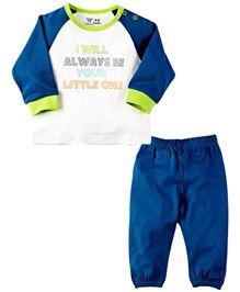 Babyoye T-Shirt And Pant Set - Blue
