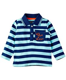 M&M T-Shirt With Stripes - Blue