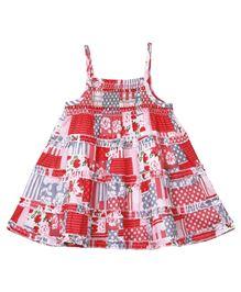 M&M Smocking Pattern Dress - Red