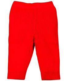 Babyoye Woolen Track Pant - Red