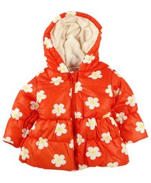 Babyoye Jacket With Print - Orange
