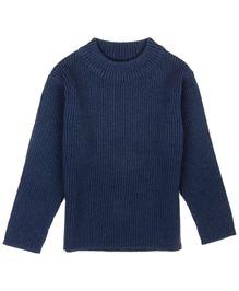 M&M Infant Girls Round Neck Sweater - Navy