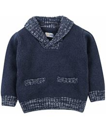 M&M Infant Sweater With Detail - Navy