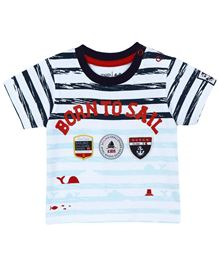 M&M T-Shirt With Stripes - Multicolor