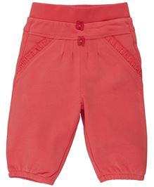 M&M Infant Leggings With Lace Detailing On Pocket - Pink