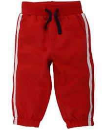 Babyoye Elastic Hem Track Pant - Red