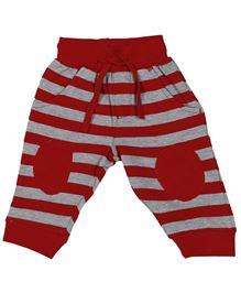 Babyoye Track Pant - Red And Grey