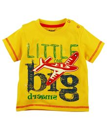 Big Dreams Printed Short Sleeves Tee - Yellow