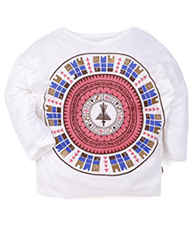 Beansprout Full Sleeves Printed T-Shirt - White