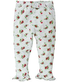 Babyoye Leggings With Bow Applique And Frill Details - Multi Colour