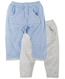 Babyoye Diaper Legging With Front Pocket Pack Of 2 - Blue Grey