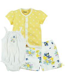 Babyoye Infant 3 Pcs Set - Multi Coloured