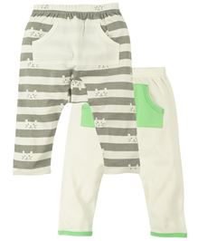 Babyoye Diaper Legging With Front Pocket Pack Of 2 - Grey And White