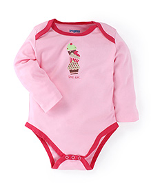 Snuggles Short Sleeves Hooded Sweat Jacket With Leggings And Onesie Cup Cake Print - Pink White