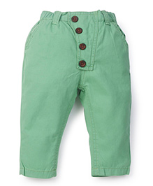 Snuggles Pull On Solid Colour Pants - Green