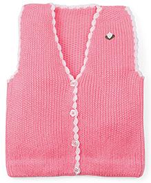 Babyoye Sleeveless Sweater - Pink