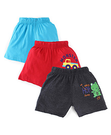 Snuggles Shorts Pack Of 3 - Multicolor