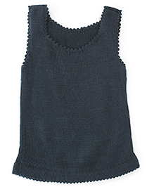 Babyoye Sleeveless Sweater - Grey
