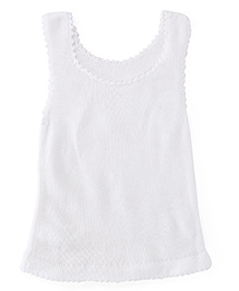 Babyoye Sleeveless Sweater - White