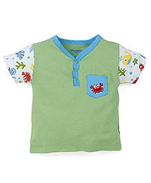 Snuggles Half Sleeves T-Shirt - Green