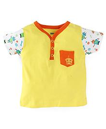 Snuggles Half Sleeves T-Shirt - Yellow