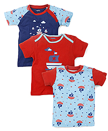 Snuggles Half Sleeves T-Shirts Pack of 3 - Multicolor