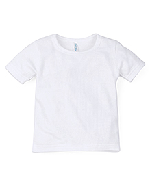 Snuggles Short Sleeves Thermal T-Shirt - White