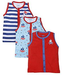 Snuggles Sleeveless Vest Pack Of 3 - Multicolor