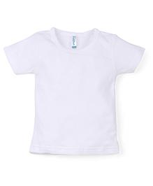 Snuggles Half Sleeves Thermal Vest - White