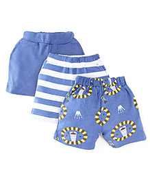 Snuggles Shorts Pack Of 3 - Blue White