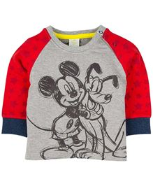Disney Full Sleeve Sweatshirt - Grey And Red