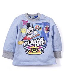 Disney Full Sleeves Sweatshirt Mickey Print - Light Blue