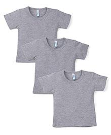 Snuggles Short Sleeves Thermal T-Shirt - Grey