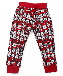 Disney Full Length Track Pants Mickey Print - Red