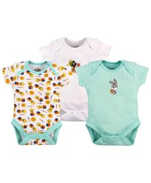Warner Bros Half Sleeves Onesie Pack of 3 - Multi Color