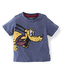 Disney Half Sleeves Printed T-Shirt - Blue