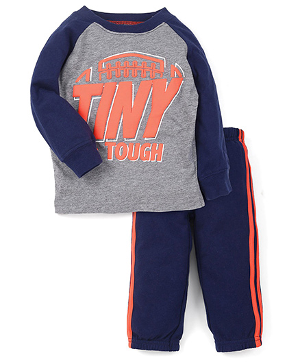 Carter's Full Sleeves T-Shirt And Track Pants -  Royal Blue Grey