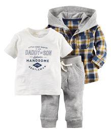 Carter's 3-Piece Hooded Shirt Set