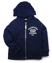 Carter's Full Sleeves Hooded Sweat Jacket - Navy