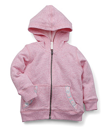 Babyoye Full Sleeves Hooded Sweatjacket - Pink