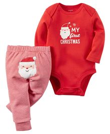 Carter's 2-Piece Christmas Bodysuit & Pant Set